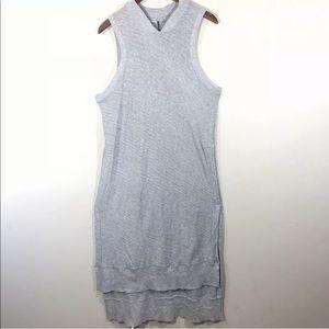 anthropologie dress Gray Knit  Maxi Dress Boho